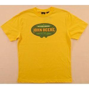 John Deere Yellow Tee Eat Sleep Breathe 14-16 NWT